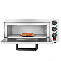 Commercial 2000 W Electric Pizza Oven Single Deck Baking Machine 110V/50Hz|Manual Burger Press Machines| |  -
