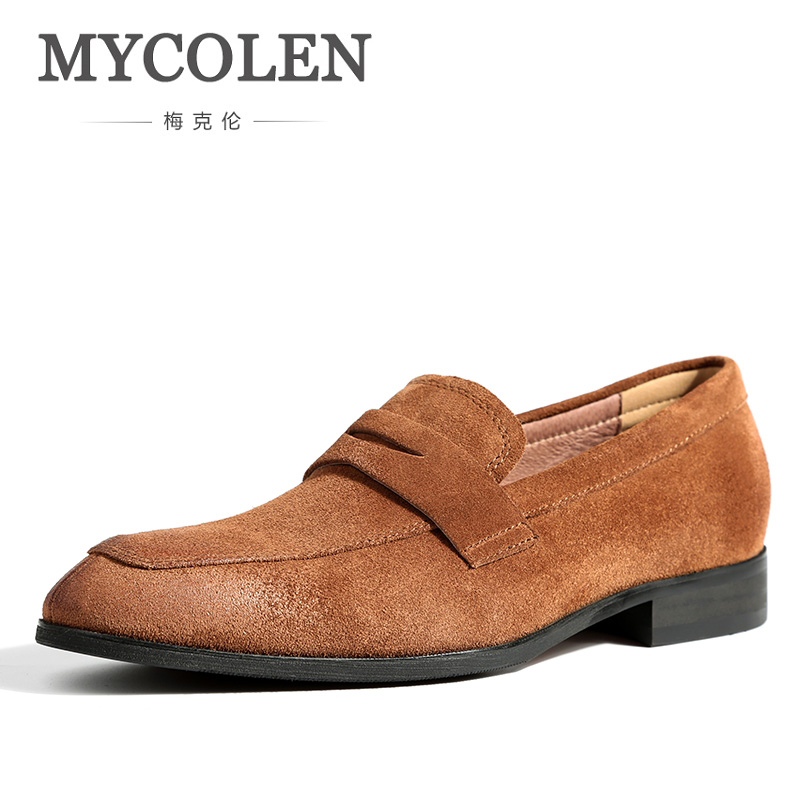 MYCOLEN Fashion Men Casual Shoes Leather Shoes Men Loafers Driving Moccasins Slip On Shoes Men Comfortable Sepatu Casual Pria