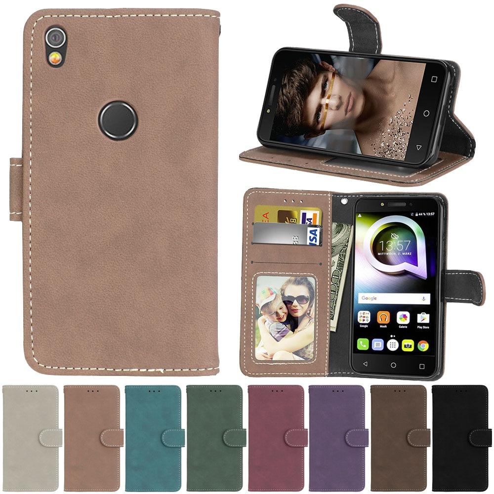 Wallet Case For Alcatel Shine Lite 5080X Flip Phone Leather Cover For Alcatel Shine Lite One Touch Shine Lite 5080 5080X Shell(China)