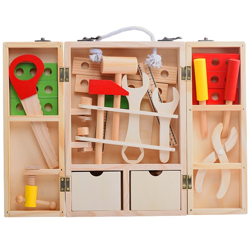 Монтессори Материал Развивающие деревянные игрушки деревянный набор инструментов Монтессори практической жизни инструменты Монтессори и...