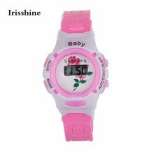 Irisshine T5 children watches Colorful Boys Girls Students Time Electronic Digital Wrist Sport Watch Kids gift wholesale