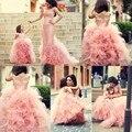 Розовый Цветок Девочки Платья Длинные Аппликации Дети Вечернее Платье Девушки Цветка Платье Дизайнер Милые Девушки Первое Причастие Платье Плиссированные