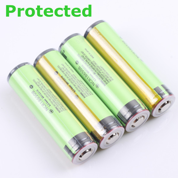 4PCS Protected 18650 3400mah Rechargeable Li-ion Battery with PCB for panasonic free shipping panasonic ncr18650bf super max 3 7v 3400mah rechargeable 18650 li ion battery red