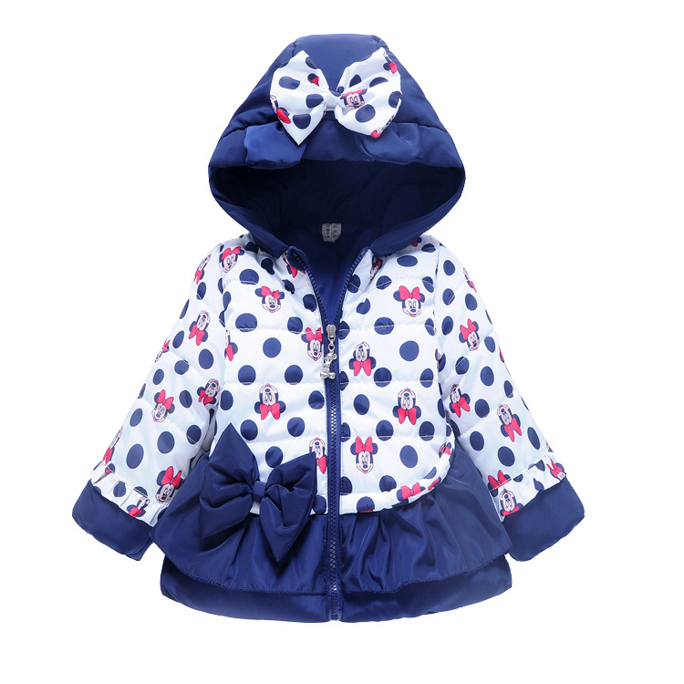 ViGarBear 2018 fashion winter coat bowknot girls coat Korean children baby Minnie children cotton padded jacket Baby clothing thicken in the long paragraph down cotton padded 2018 girls jacket new korean female baby winter coat children s coat mf 28