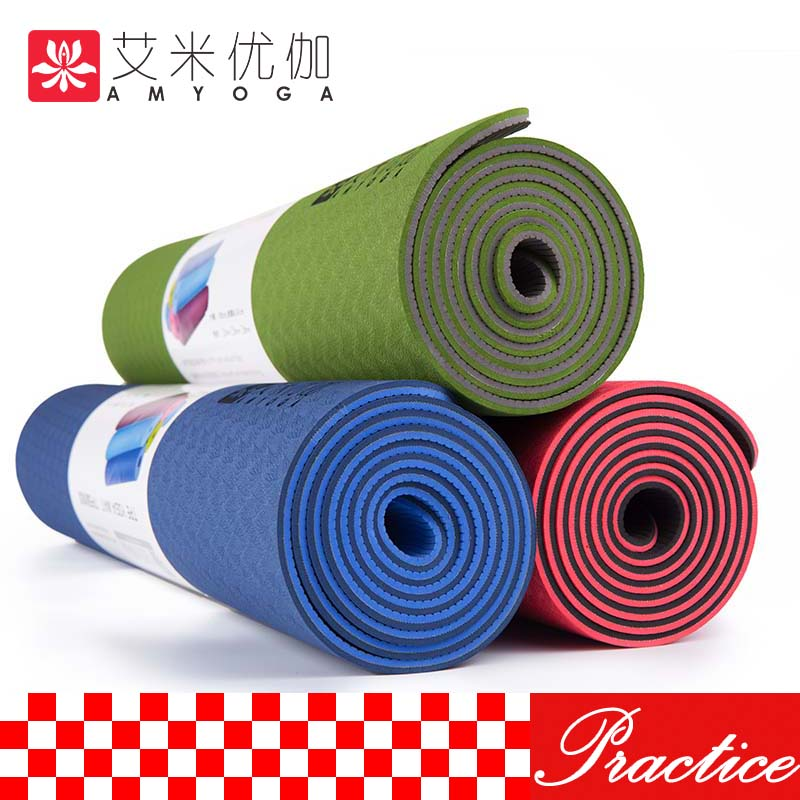 Private customizing TPE Yoga Mat, wtih sling and bag free shipping xeltek private seat tqfp64 ta050 b006 burning test
