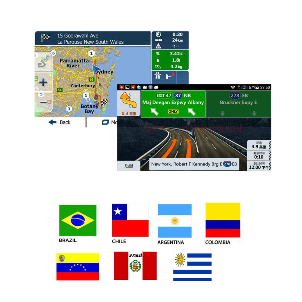Android Gps Map With 8g Sd Card For Brazil/argentina/chile/peru/colombia/uruguay/venezuel For Android Device Car Navigation 2019 New Fashion Style Online