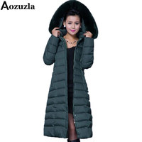Winter Coat Women 2016 X Long Plus Size 5XL Long Parka Luxury Fur Cotton Padded Thick