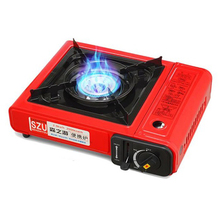 TOP!-Red Outdoor Portable Cassette Gas Stove Windproof Wild Barbecue For Camping Hiking Travel Cooker Applicable Grill Dua