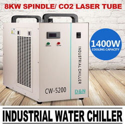 220V CW-5200DG Industrial Water Chiller for Single 130/150W CO2 Laser Tube TO europe