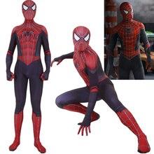 купить Adult Kids Spider Man Raimi Far From Home Hybrid Cosplay Costume Zentai Spiderman Superhero Bodysuit Suit Jumpsuits по цене 1855.59 рублей