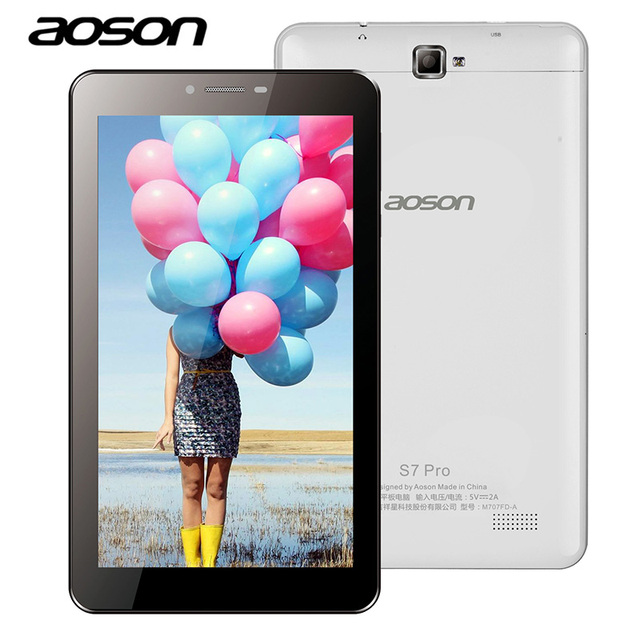 7 inch Aoson S7 PRO 4G LTE-FDD Phone Call Tablet PC HD IPS Android 6.0 1024*600 8GB 1GB Dual SIM Phablet Quad Core wifi 3G GPS