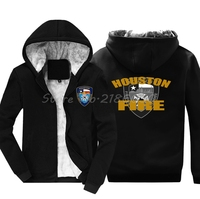 Fashion Men Cotton Hoodie New Houston Texas Firefighter Fire Brigade Service Navy Sweatshirt Hip Hop Jacke Harajuku Streetwear
