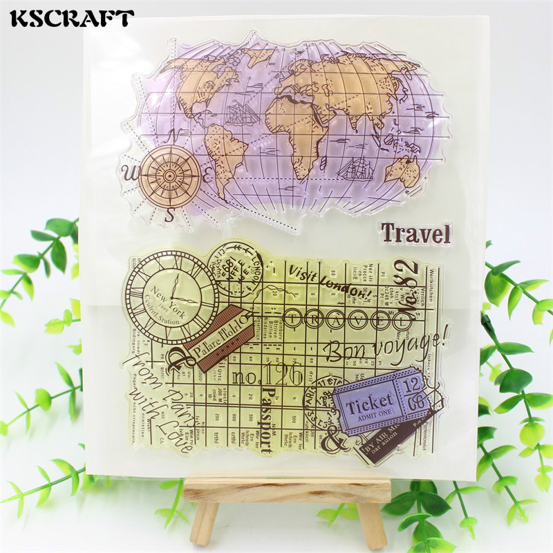 KSCRAFT Travelling Transparent Clear Silicone Stamps for DIY Scrapbooking/Card Making/Kids Christmas Fun Decoration Supplies tools transparent clear silicone stamps for diy scrapbooking card making kids christmas fun decoration supplies