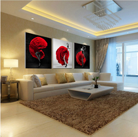 Unframed 3 Pieces Sexy Lady Figure Wall Art Picture Printed Oil Painting By Numbers High Quality