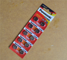 10pcs/lot 100% Original Panasonic 1.5V AG10 LR1130 Alkaline Button Coin Cell Battery 389 LR54 SR54 SR1130W 189