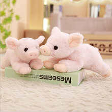 Lovely Pink Simulation Pig Plush Toy Stuffed Animal Short Doll Gifts Send to Children & Friends