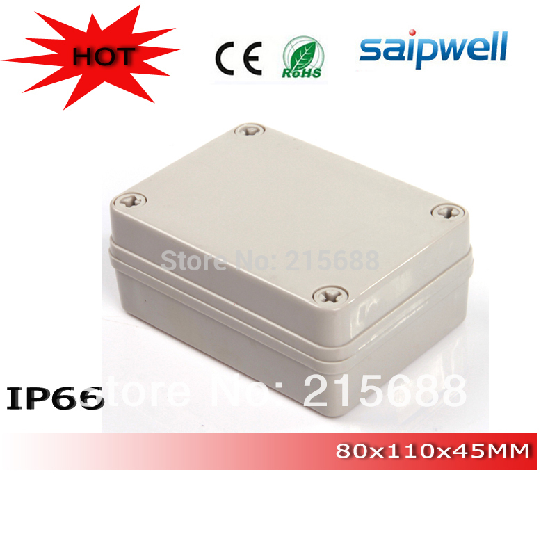 2015 Most popular ABS IP66 Waterproof Junction Box Plastic Enclosure 80 110 45mm Type DS AG
