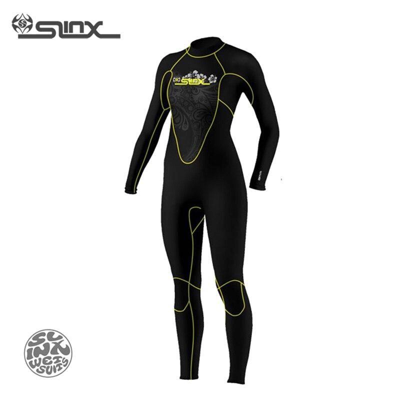 SLINX DISCOVER 1107 5mm Neoprene Women Spearfishing Windsurfing Snorkeling Swimwear Fleece Lining Warm Wetsuit Scuba Diving Suit