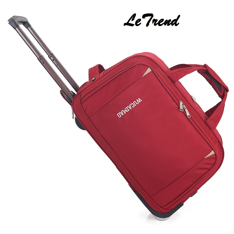 Letrend Rolling Luggage Men Travel Bag  Women Suitcases Wheel Trolley 20 inch Business Carry On Password Trunk