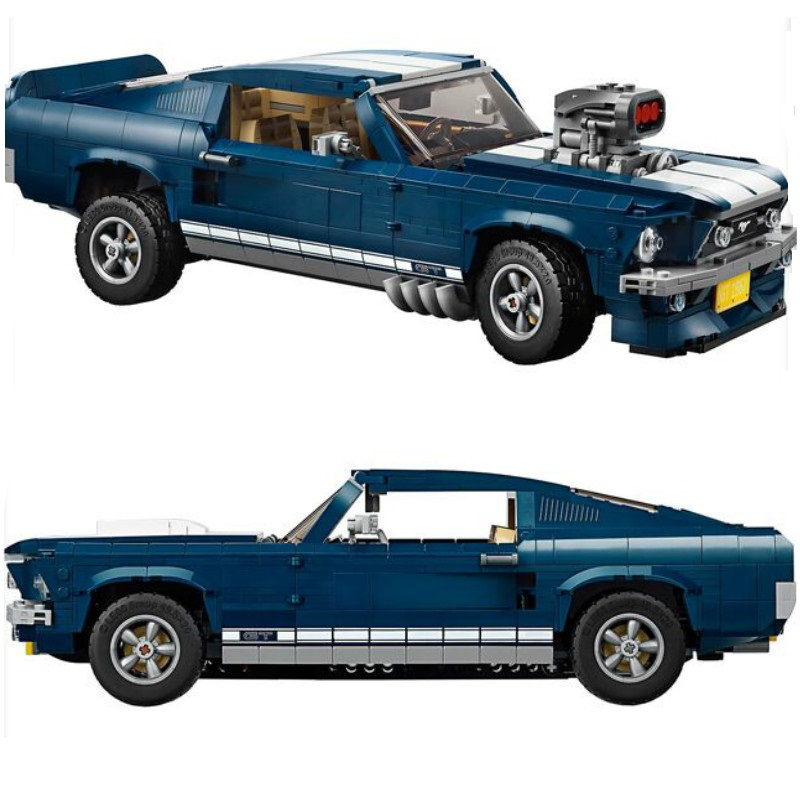 New Technic GT500 1967 Creator Expert Ford Mustang compatible City 10265 Building Blocks Bricks 21047 DIY