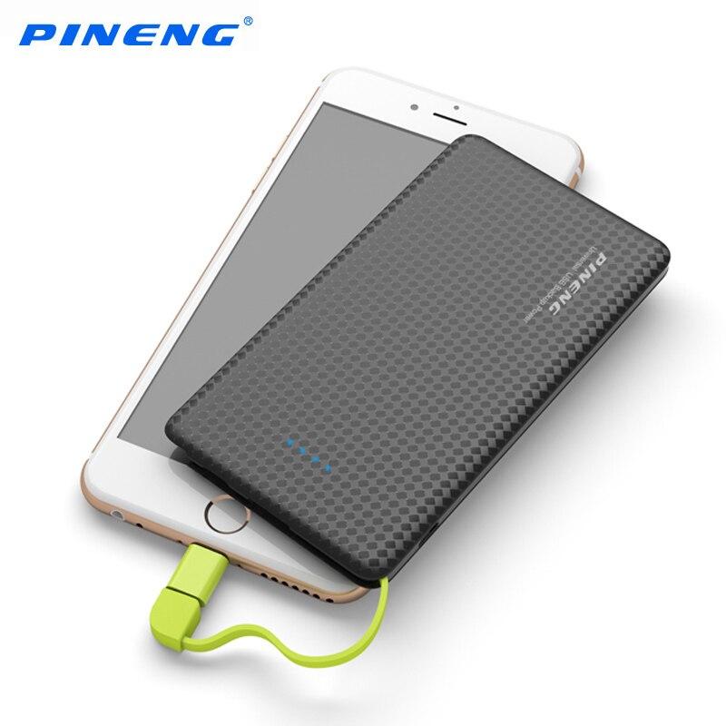 imágenes para Original PINENG Banco Móvil 5000 mah USB Batería del Li-Polímero powerbank Cargador Portátil de Batería Externa Para el iphone Android