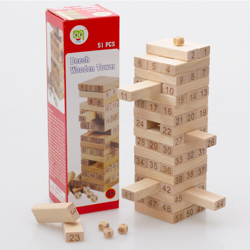 2016 Funny Toys Jenga Classic Game Beech Wooden Tower Toy...