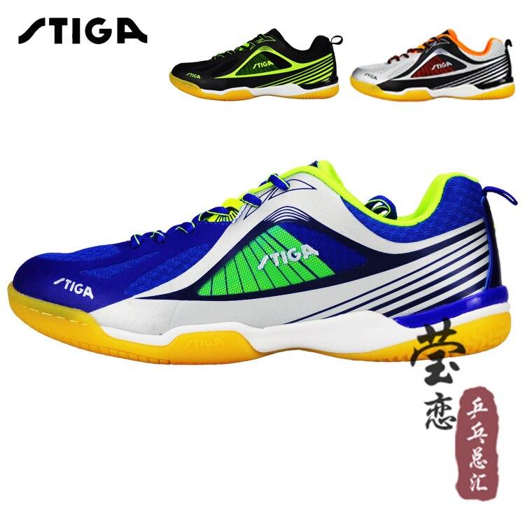 D'origine stiga tennis de table shoes 2016 nouveau style unisexe sneakers pour tennis de table raquette jeu ping-pong jeu pour femme et homme