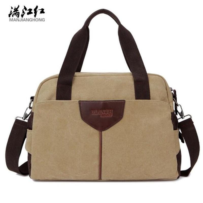 MANJIANGHONG Fashionable Travel Bag Multi-function Duffle Bags Wear-resisting Canvas Travel Handbag Mens Messenger Bags M353