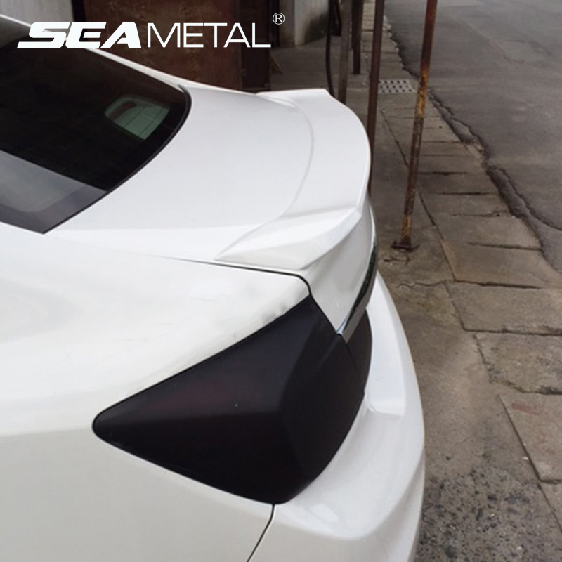 Car Rear Spoiler Rear Wing Decorative Without Paint For Honda Civic 2013+ 2014 2015 ABS Chrome Auto Rear Spoiler Accessories paint abs car rear wing trunk lip spoiler for 16 17 toyota vios 2014 2015 2016 2017 by ems
