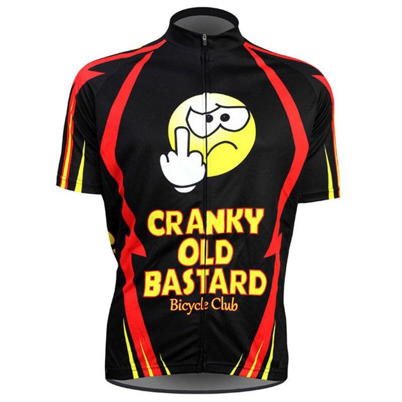 Prix pour Cyclisme jersey noir hommes cyclisme tops d'été vélo vêtements à manches courtes ropa de ciclismo peut Personnalisé rouge drôle jersey