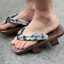 Coshome o rei dos lutadores naruto cosplay geta tamancos chinelos japonês paulownia sapatos de madeira das mulheres dos homens sandálias