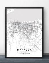 Карта манагуа никарагуа плакат
