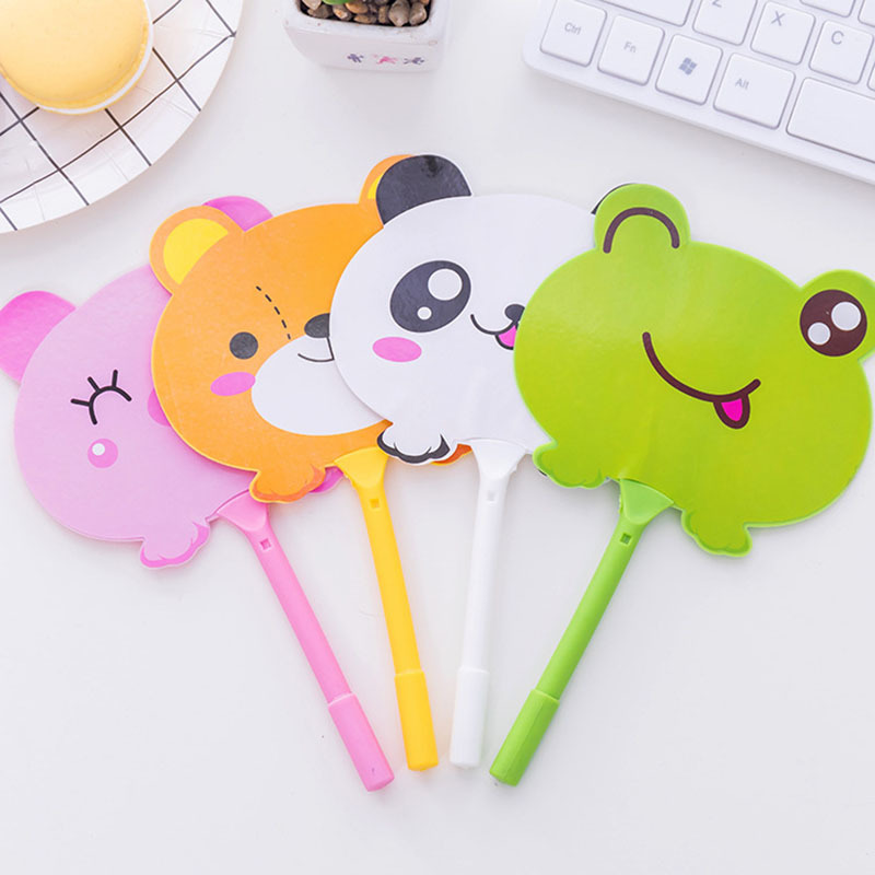 24pcs Cartoon Writing Ball Pen Creatively student Office School Writing Supplies Stationery fan ballpoint pen cobee 10pcs new cute school office camera shape roller ball point writing pen ballpoint school supplies creative stationery gift