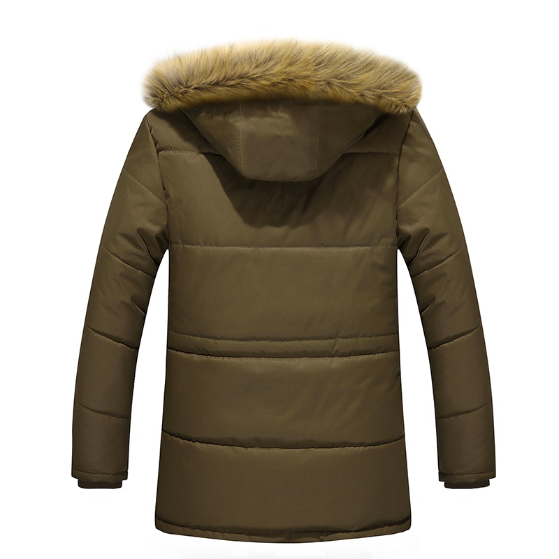 2018 autumn winter warm lining material long cotton jacket mens clothing Dad Coats&Jackets thickening male wadded jacket