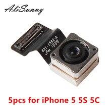 Alisunny 5ps voltar câmera cabo flexível para iphone 5S 5c 5 5g traseira grande câmera cam peças de reposição