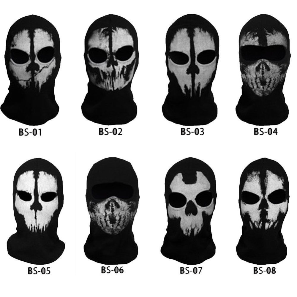 Original Balaclava Ghost Mask Skull Paintball Hat Army Motorcycle WarGame Airsoft Military Tactical Full Face Mask