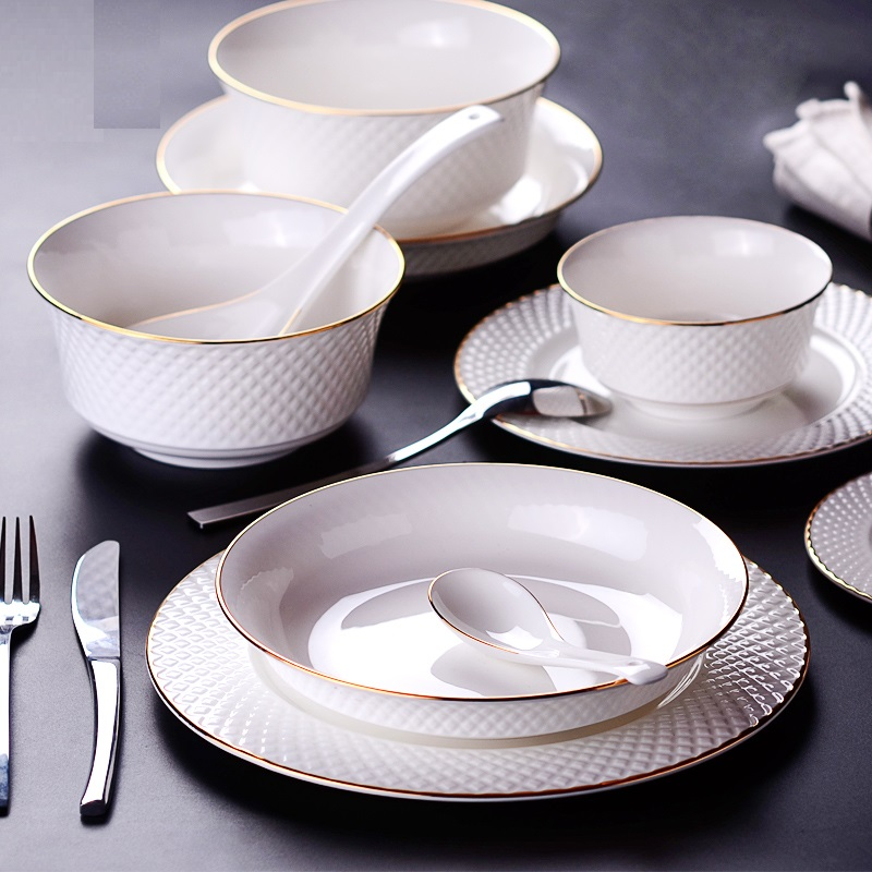 Aliexpress.com  Buy Luxurious European dinnerware sets Western ceramic gold trim tableware bowl dishes High end gift from Reliable european dinnerware sets ... & Aliexpress.com : Buy Luxurious European dinnerware sets Western ...