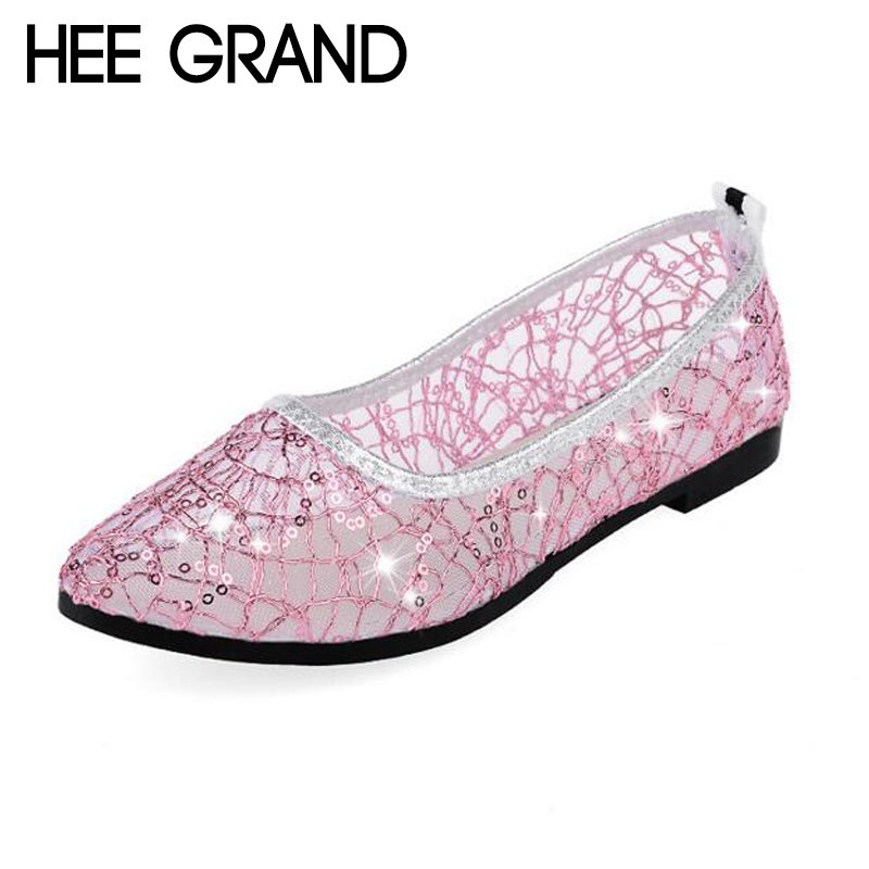 HEE GRAND Women's Flats Pointed Toe Weave Shoes Woman Solid Shoes Slip-on Ladies Shoes 35-40 XWD6425 2017 summer new fashion sexy lace ladies flats shoes womens pointed toe shallow flats shoes black slip on casual loafers t033109