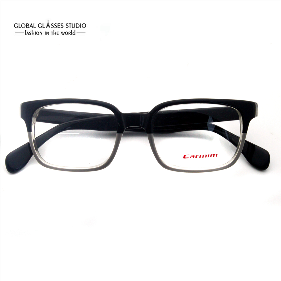 26a7f847ef Brand Quality Men Acetate Frame Black on Crystal Color Classic Optical  Glasses Browline Shape Tight Optical Eyeglasses A060-in Eyewear Frames from  Apparel ...