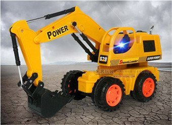 Infrared remote control stunt wheel construction excavator with light kids electric rc navvy  High-powered toys + free shipping