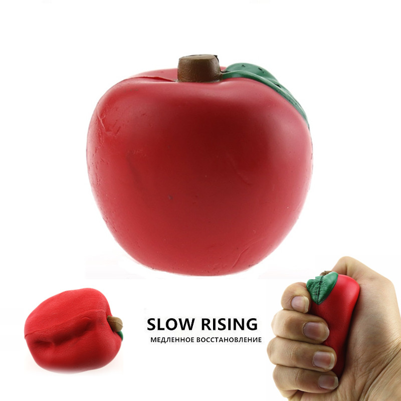 Antistress Squishy Apple Slow Rising Funny Fruit Soft Jumbo Toy Squishies Toys For Children