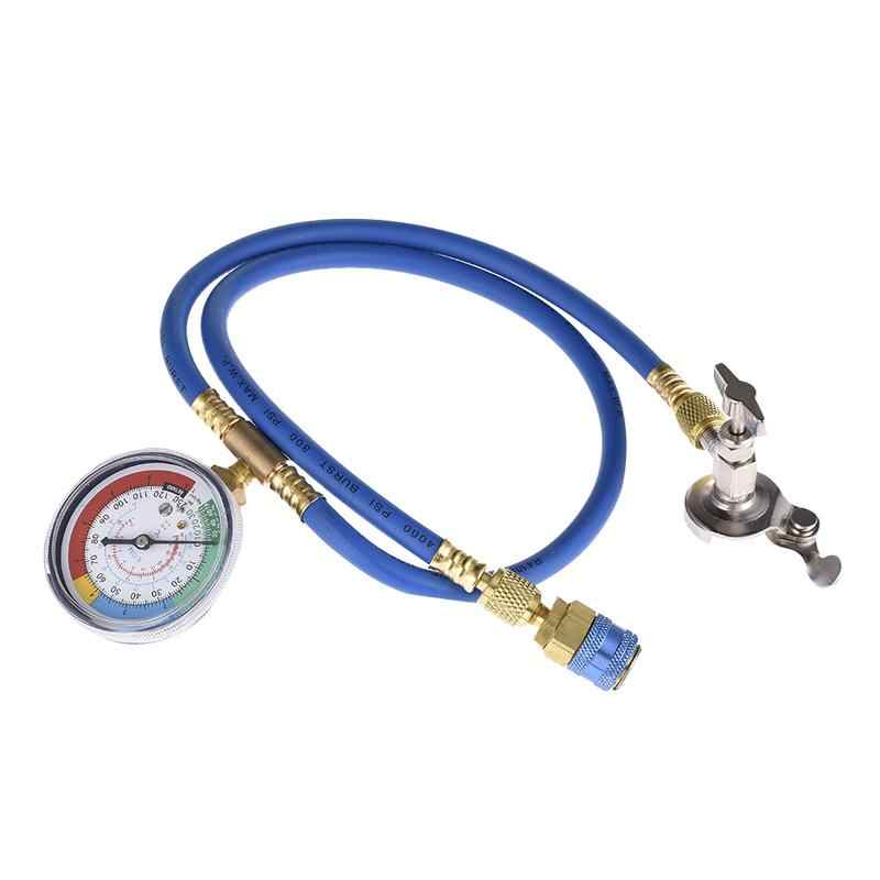 R134a Refrigerant Recharge Hose Gas Can Fitting Pipe Can Tap For R502 R-12  R-22 Refrigerant Bottle Opener