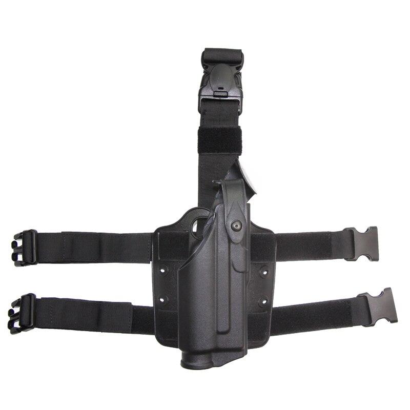 Tactique Holster Glock Avec Tactique Lumière Monté Pistolet Glock 17 19  Jambe Étui Extérieur Fusil de Chasse Airsoft Accessoires.