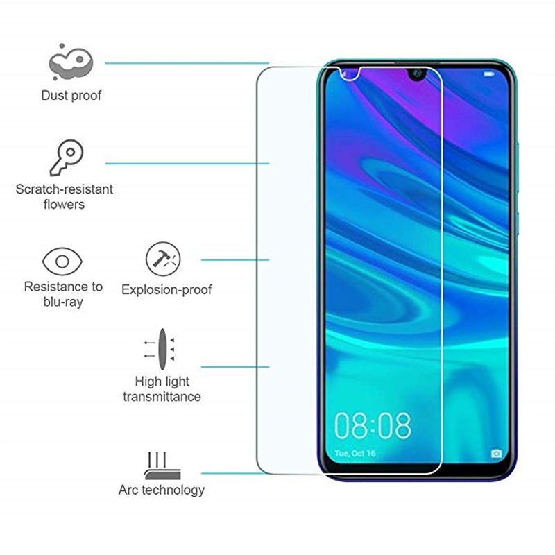 Image 2 - 2PCS Screen Protector For Huawei P Smart 2019 Glass Ultra Thin 9H Hardness Tempered Glass For Huawei P Smart 2019 Phone Film 6.2-in Phone Screen Protectors from Cellphones & Telecommunications
