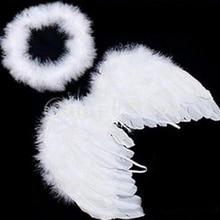 1 комплект, милые детские белые крылья ангела с перьями, повязка на голову, украшение для дня рождения, горячая распродажа