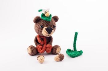 crochet toys  amigurumi pig  model number a0112