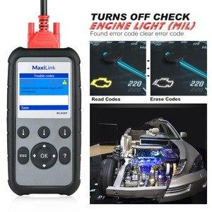 Image 4 - Autel MaxiLink ML609P herramienta de diagnóstico automático lector de código de escáner de coche OBD2 herramienta escaneo código ver congelar marco herramienta de diagnóstico de datos