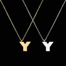 N00162Y Stainless steel Letter Jewelry Chains A B C D E F G H I J K L M N O P Q I S T U V W X Y Z Pendant Necklaces