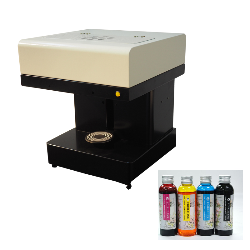 Factory supply personalized art 3d food coffee printer machine 4*100ml per set Edible ink included