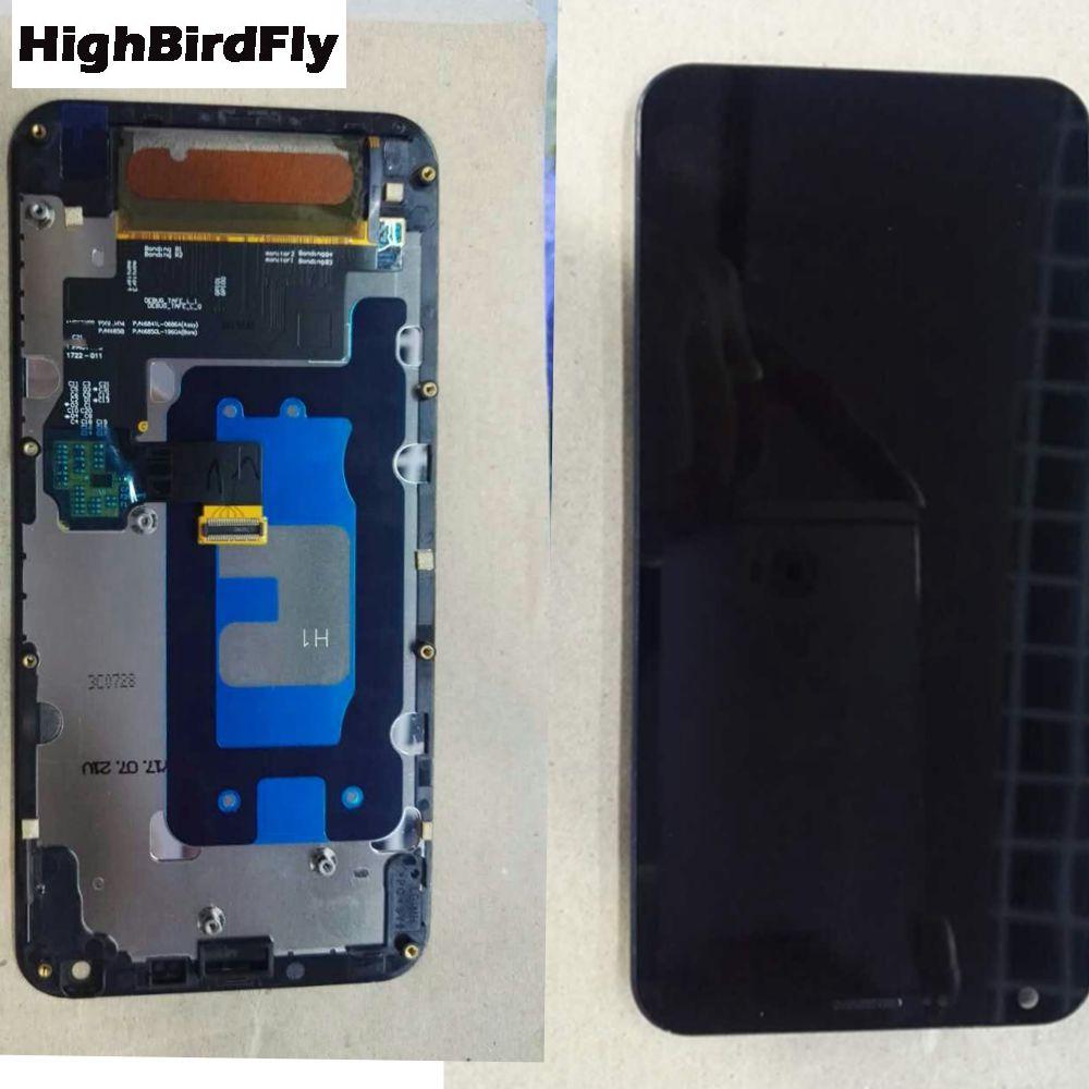 Highbirdfly Pour Lg Q6 M700 M700N Lcd Écran Avec Écran Tactile En Verre Digitizer Avec Cadre Assemblée Unique Sim Version